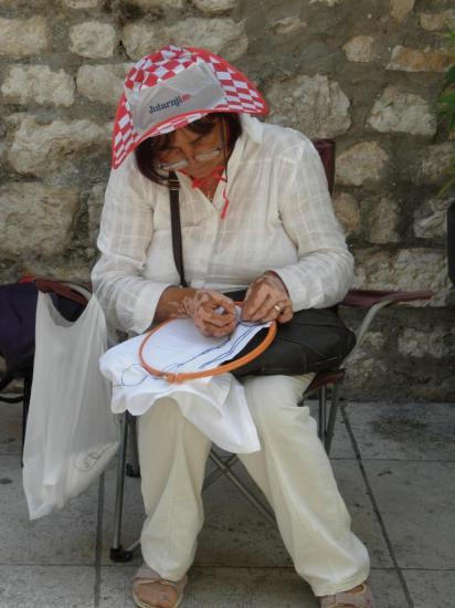 Zadar, dentellière